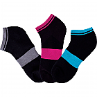 Women's Strype A Pose No Show Socks (6 - 3 pair bundles, 18 total)