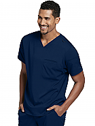 Grey's Anatomy Spandex Stretch Mens 3-Pocket Sport V-neck Top