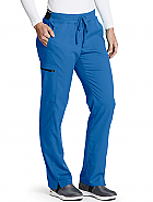 'Grey's Anatomy Spandex Stretch' 3-Pocket Logo Waist Cargo Scrub Pant