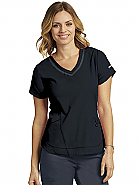 'Harmony' 3-Pocket Seamed V-Neck Top