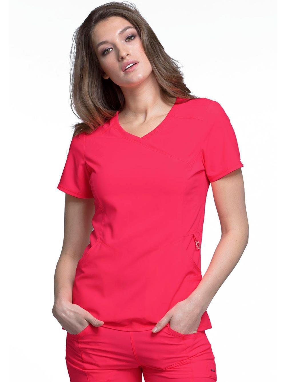 35c29e0def5 'Infinity' Mock Wrap Top w/ Antimicrobial - Infinity - Cherokee - Brands -  Metro Uniforms -.